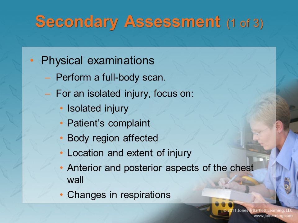 Secondary Assessment (1 of 3)