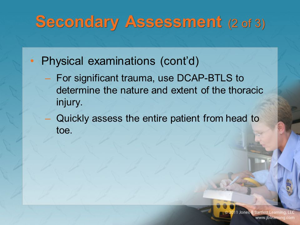 Secondary Assessment (2 of 3)