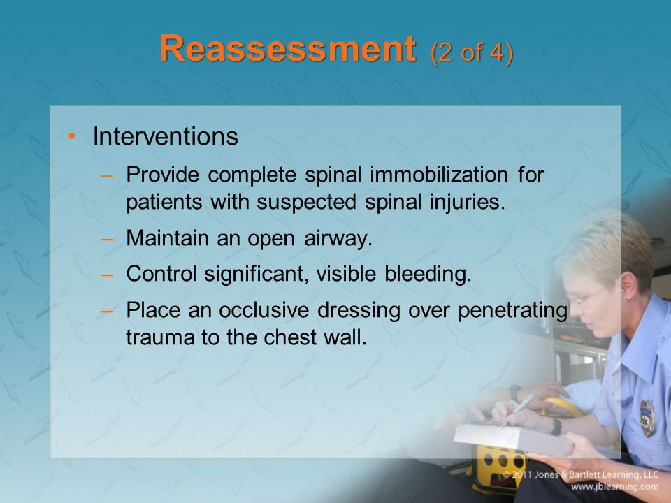 Reassessment (2 of 4) Interventions