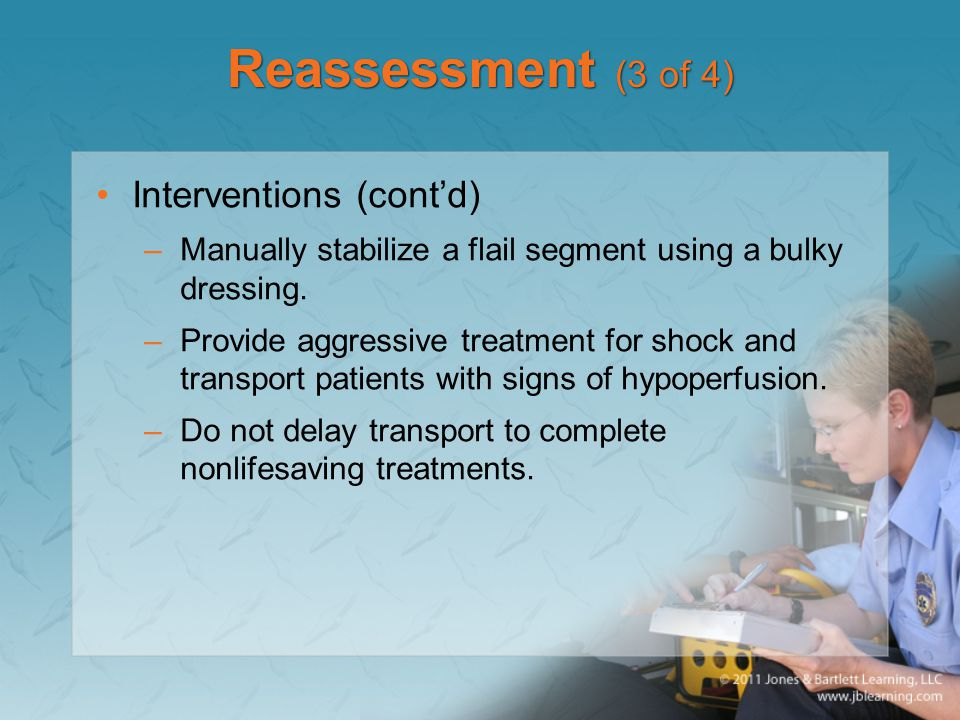 Reassessment (3 of 4) Interventions (cont'd)