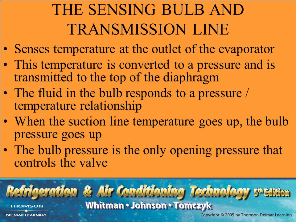 THE SENSING BULB AND TRANSMISSION LINE