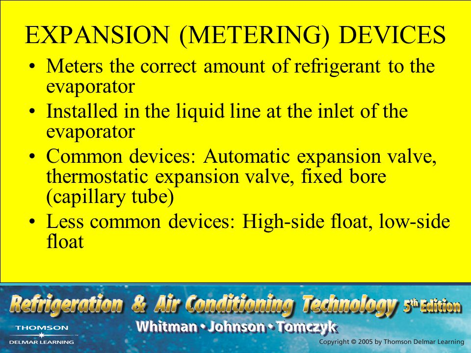 EXPANSION (METERING) DEVICES