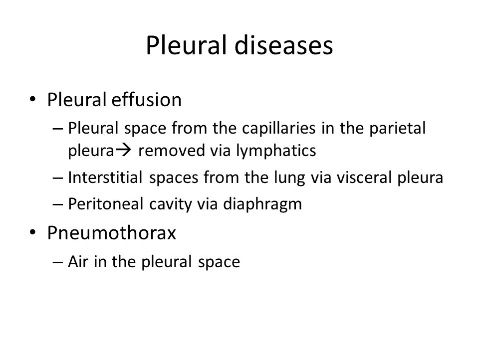 Pleural diseases Pleural effusion Pneumothorax