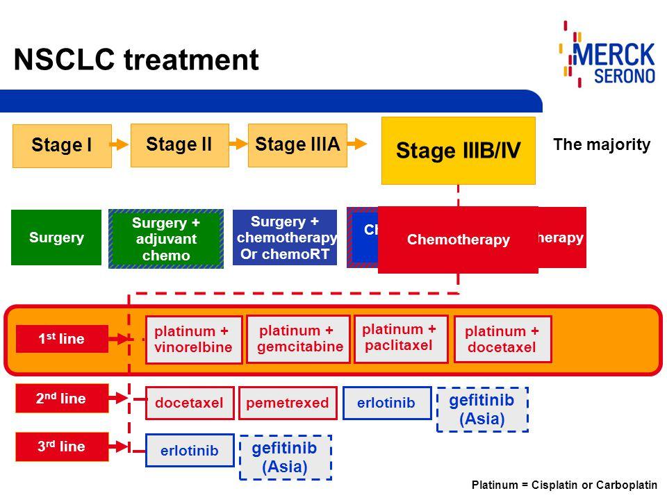 Surgery + adjuvant chemo platinum + vinorelbine platinum + gemcitabine