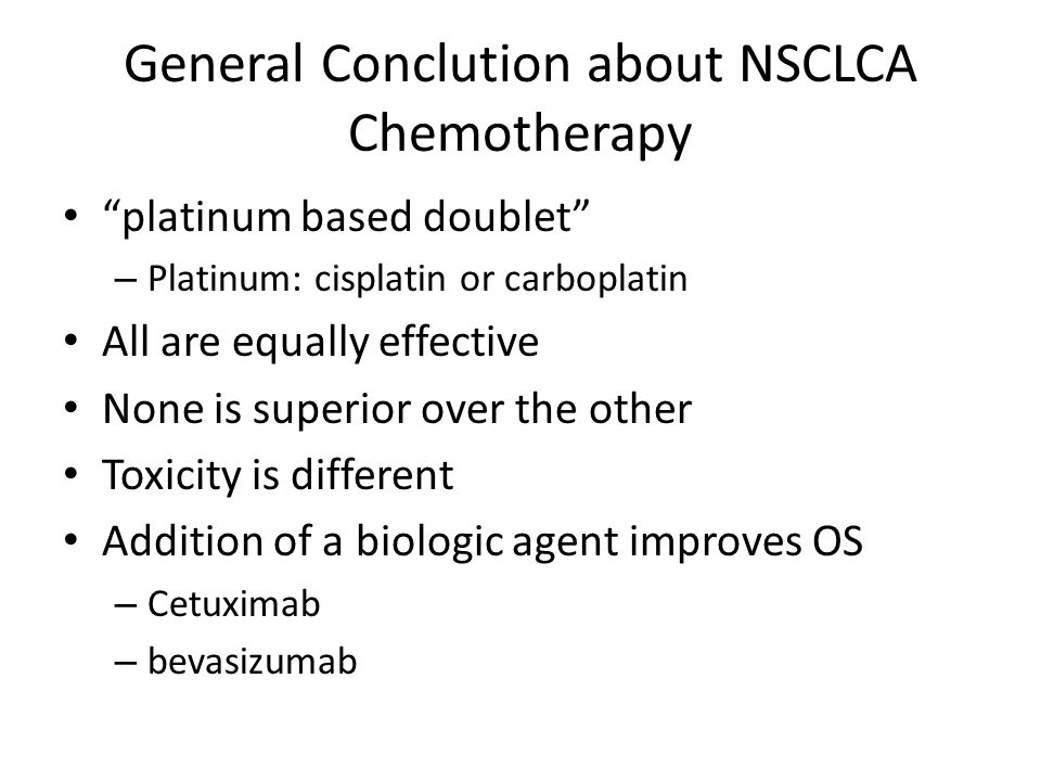 General Conclution about NSCLCA Chemotherapy