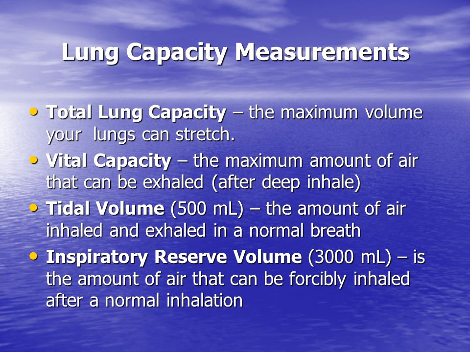 Lung Capacity Measurements