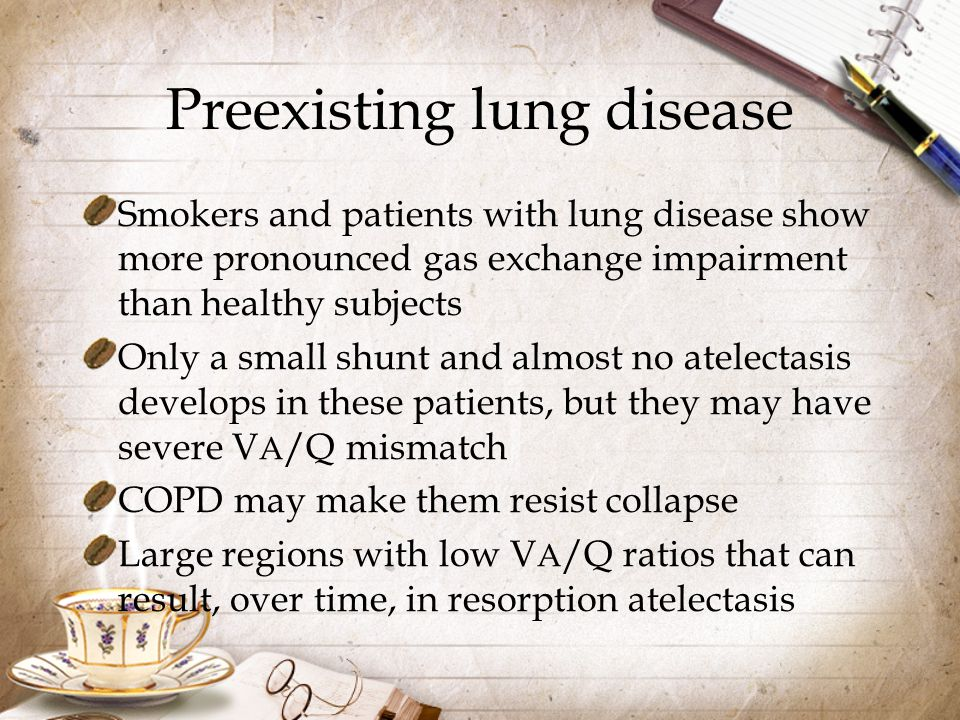 Preexisting lung disease