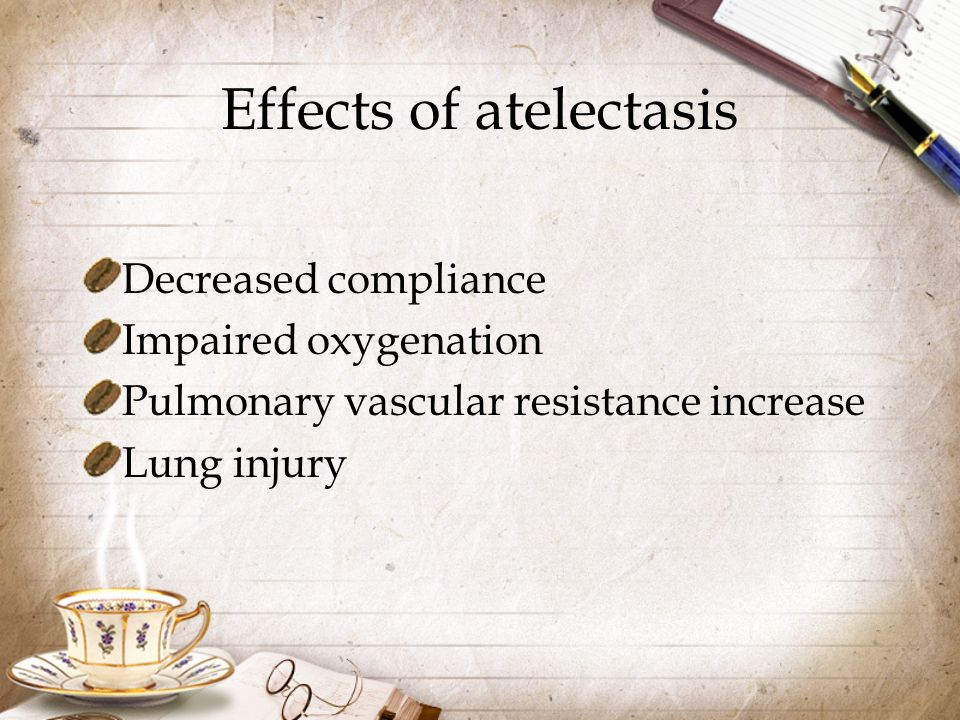 Effects of atelectasis