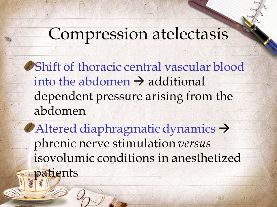 Compression atelectasis