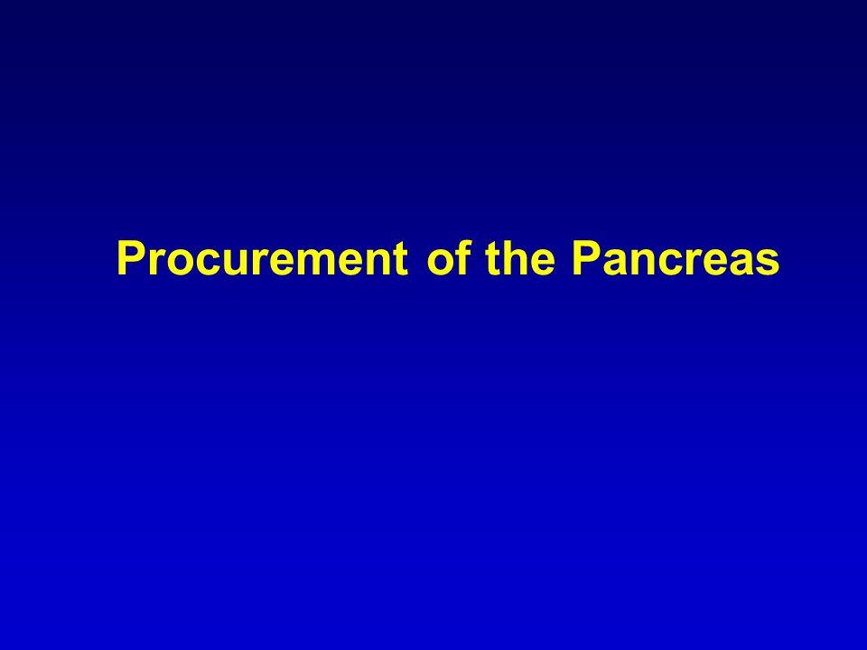 Procurement of the Pancreas