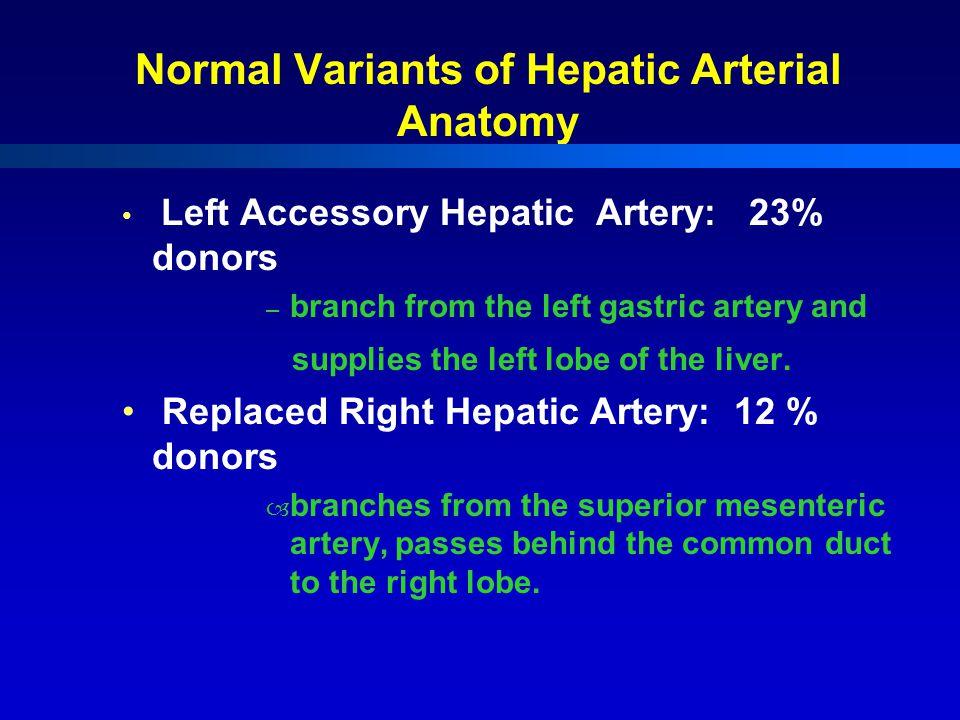 Normal Variants of Hepatic Arterial Anatomy