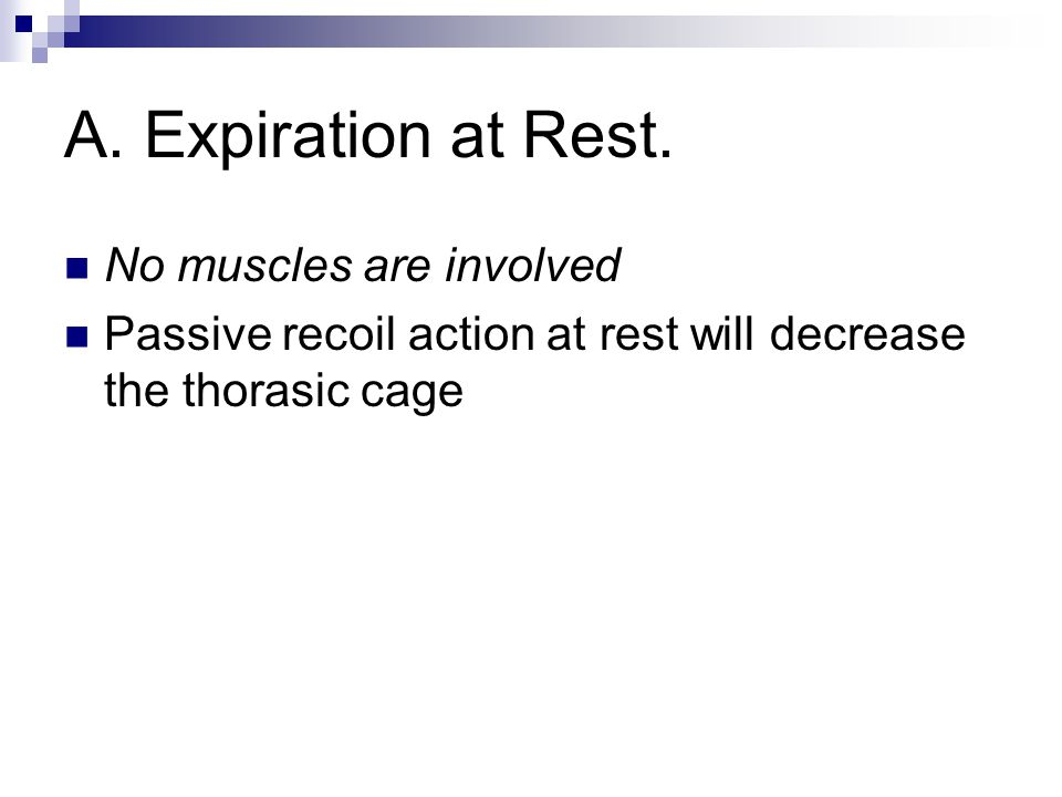 A. Expiration at Rest. No muscles are involved