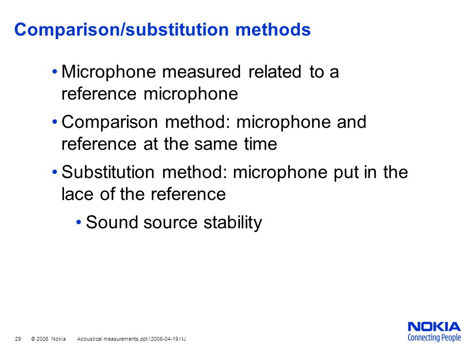 Comparison/substitution methods