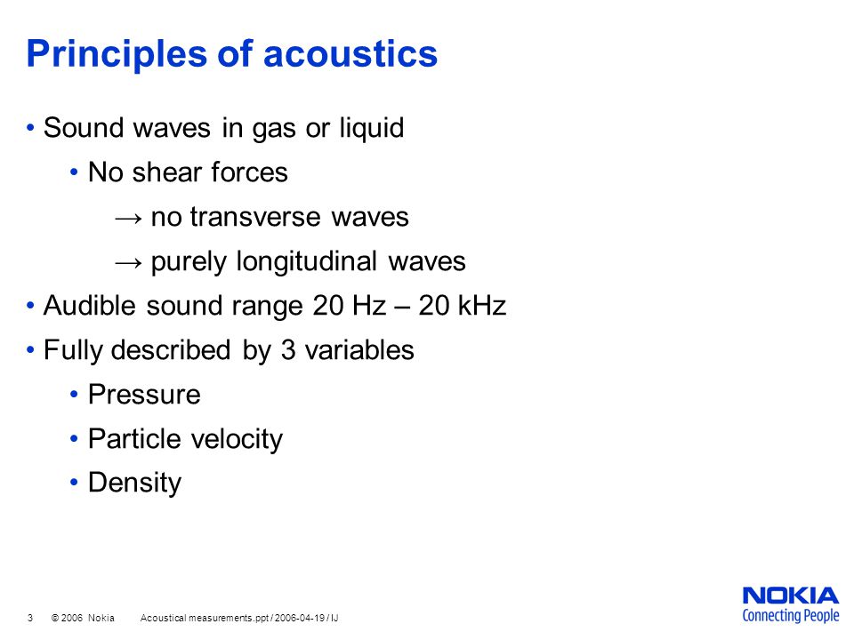 Principles of acoustics