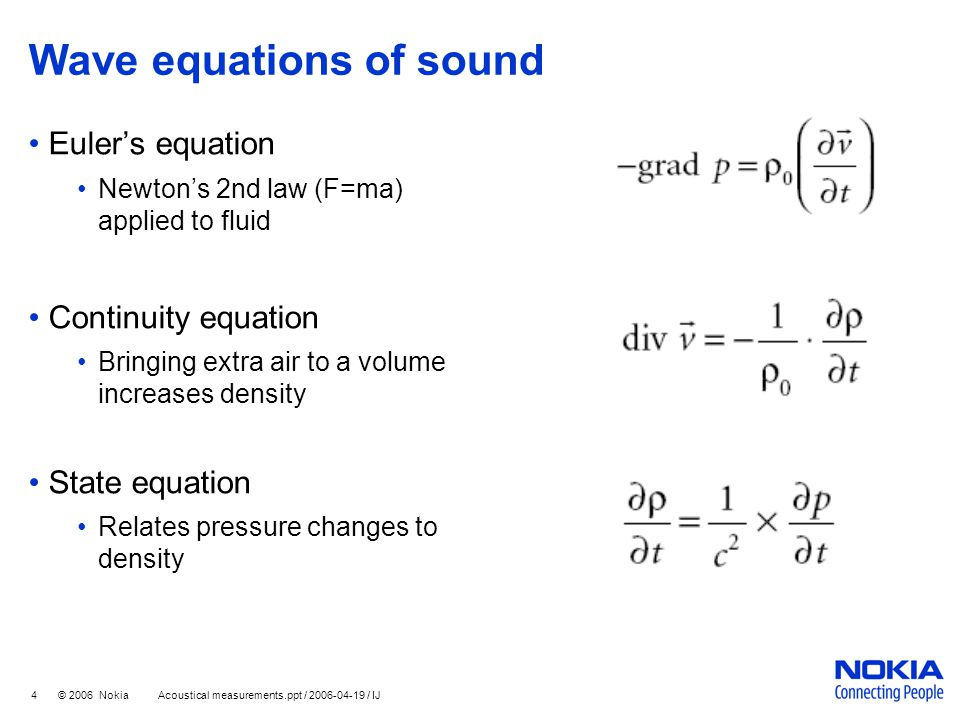 Wave equations of sound