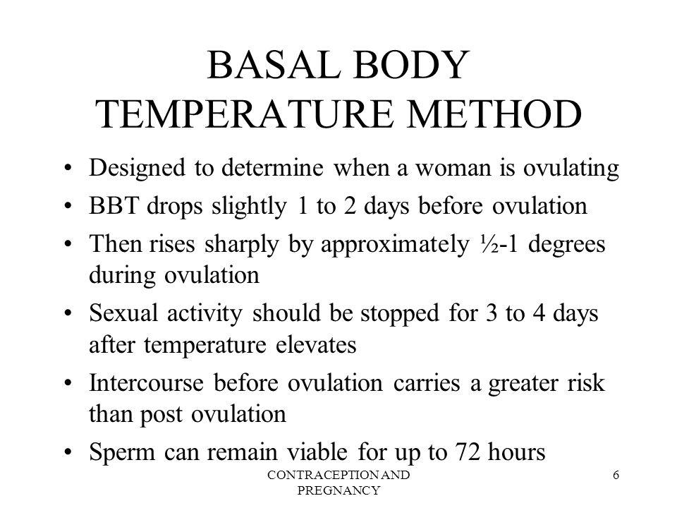 BASAL BODY TEMPERATURE METHOD