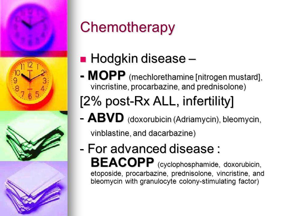 Chemotherapy Hodgkin disease –