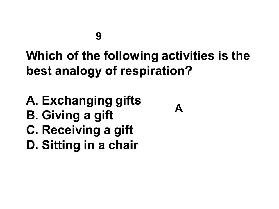 Which of the following activities is the best analogy of respiration