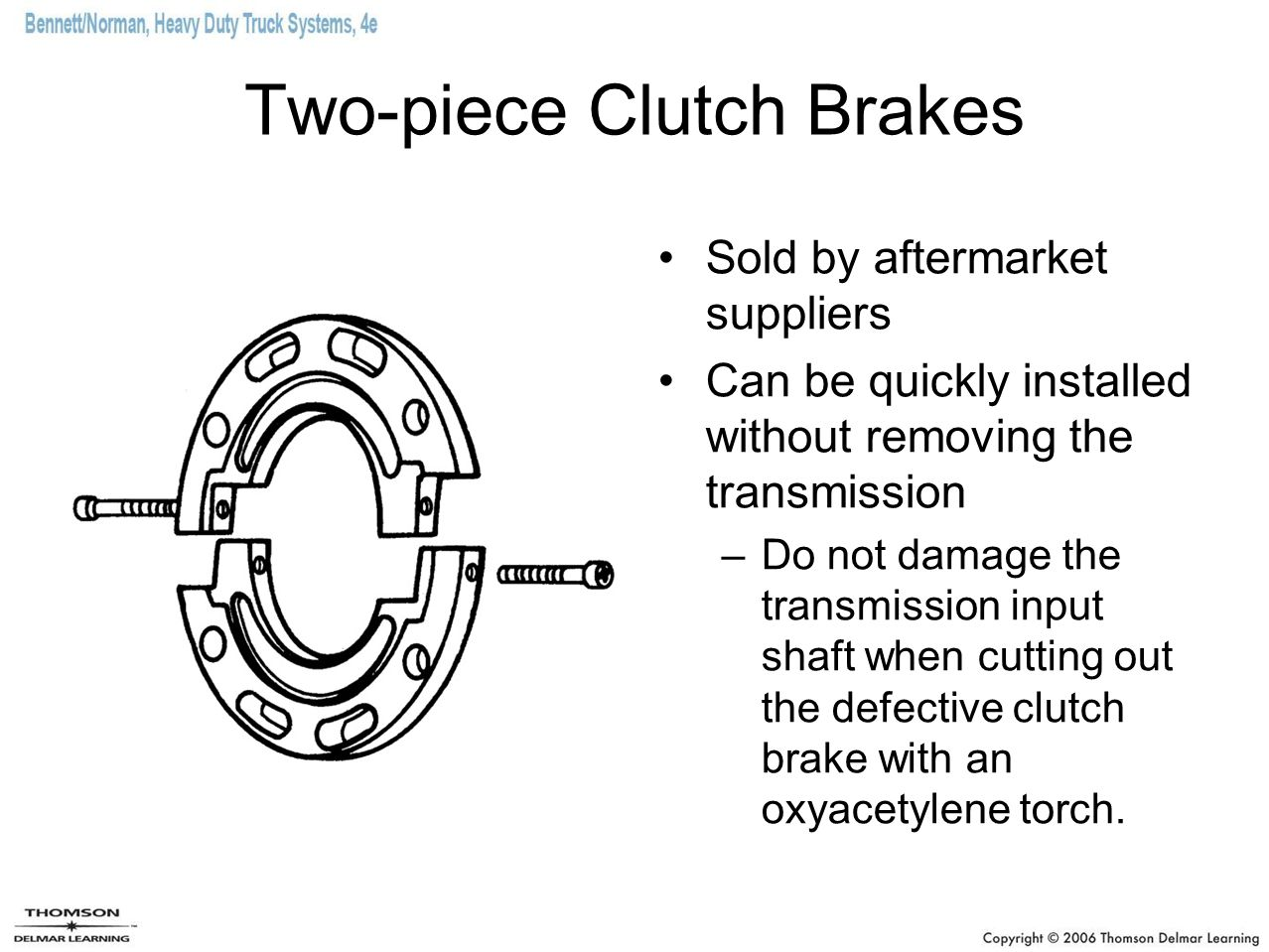 Two-piece Clutch Brakes