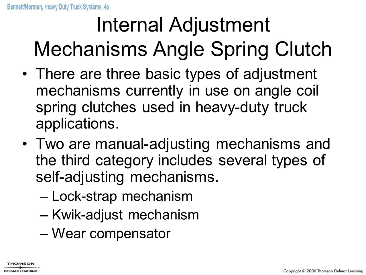 Internal Adjustment Mechanisms Angle Spring Clutch