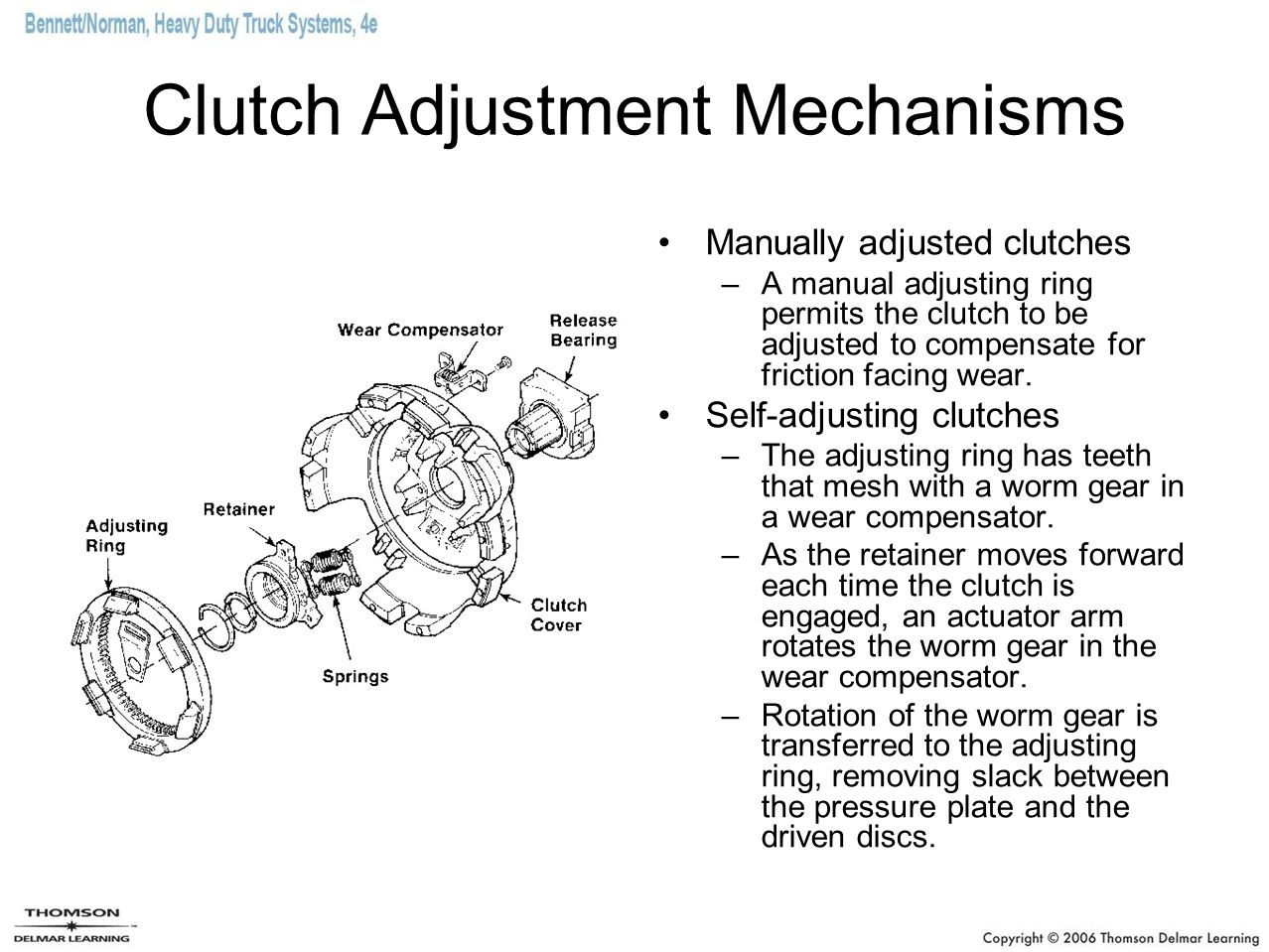 Clutch Adjustment Mechanisms