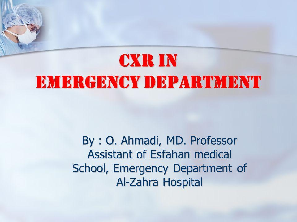 CXR in Emergency Department