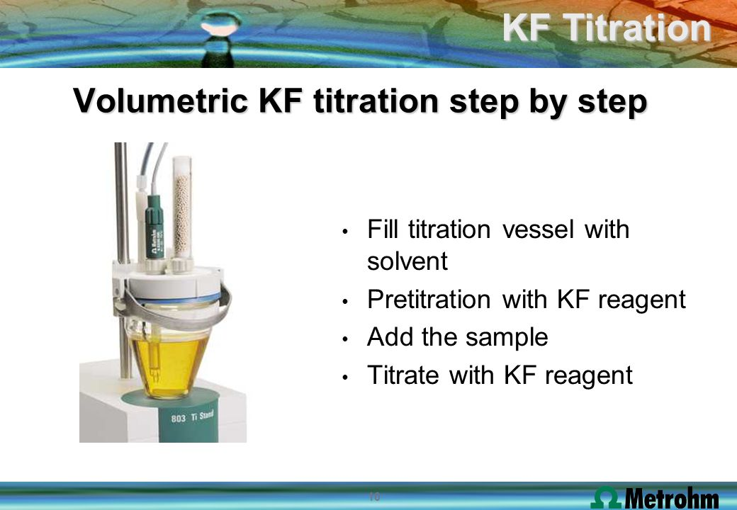 Volumetric KF titration step by step