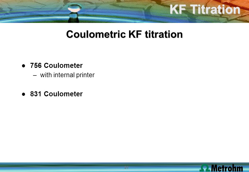 Coulometric KF titration
