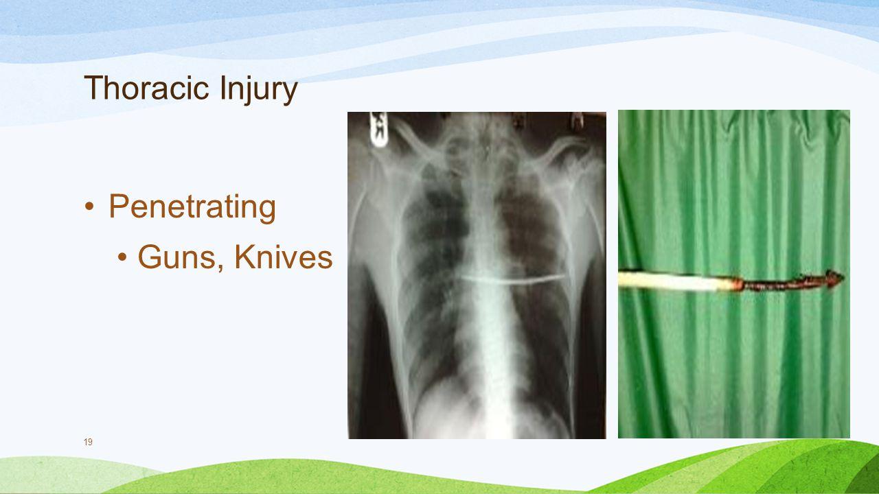Thoracic Injury Penetrating Guns, Knives