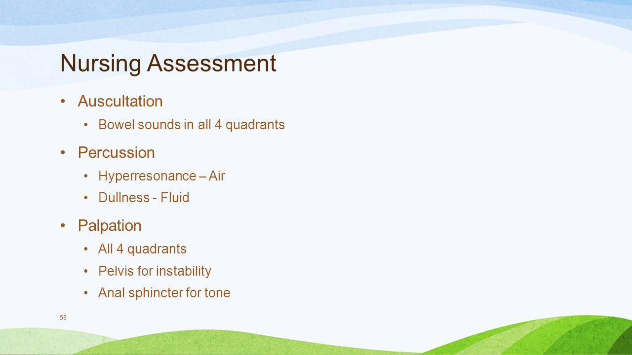 Nursing Assessment Auscultation Percussion Palpation