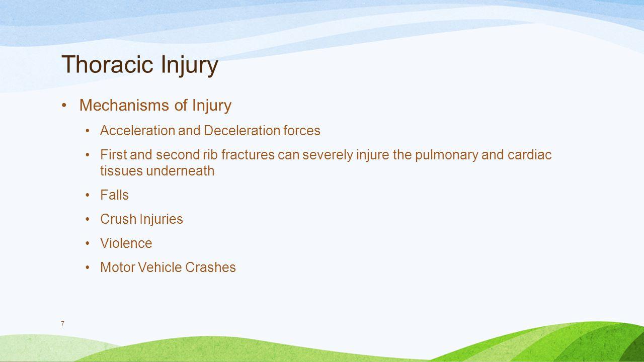 Thoracic Injury Mechanisms of Injury