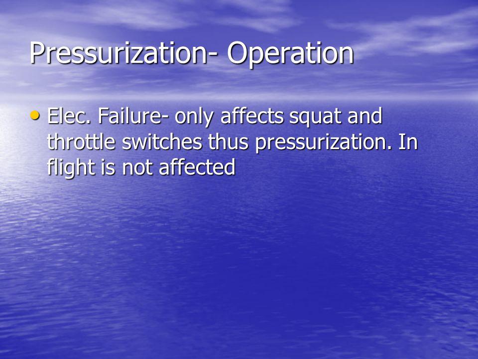 Pressurization- Operation