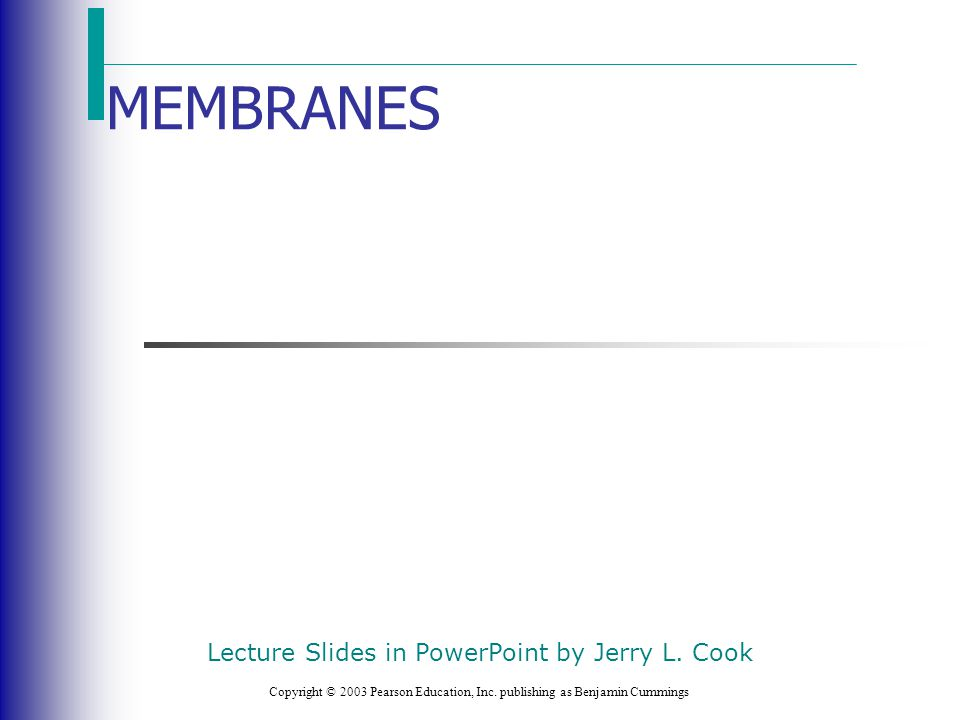 Lecture Slides in PowerPoint by Jerry L. Cook