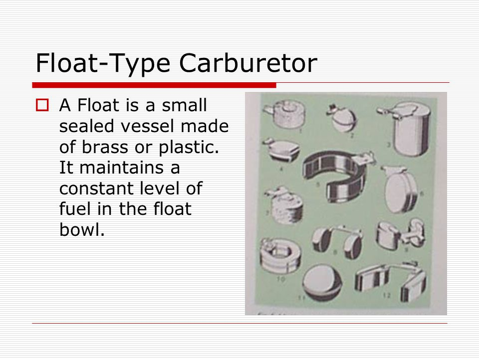 Float-Type Carburetor