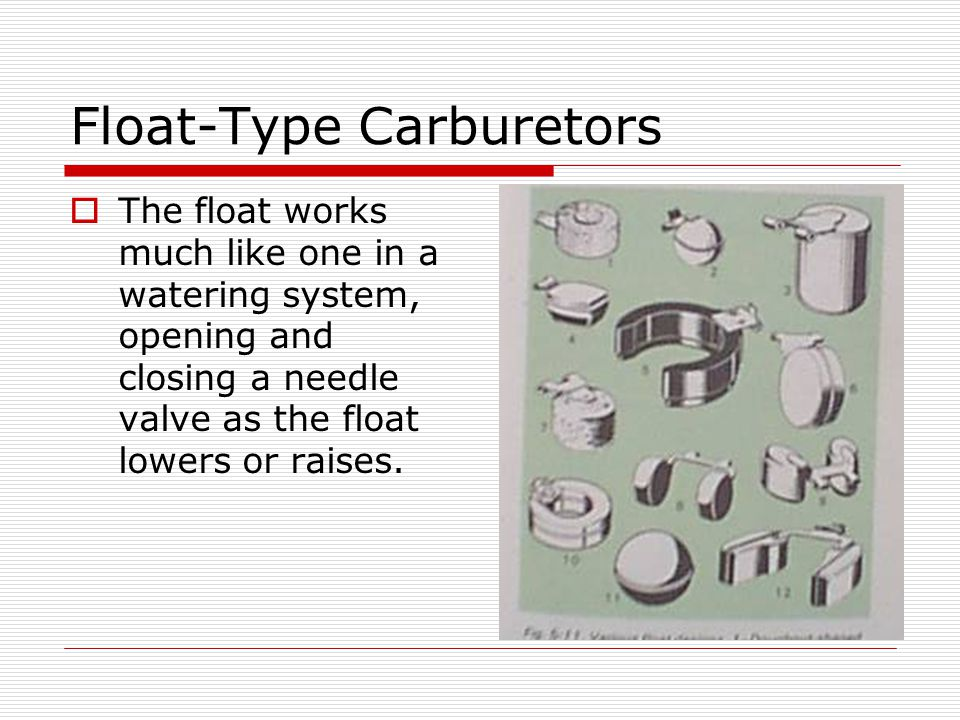 Float-Type Carburetors