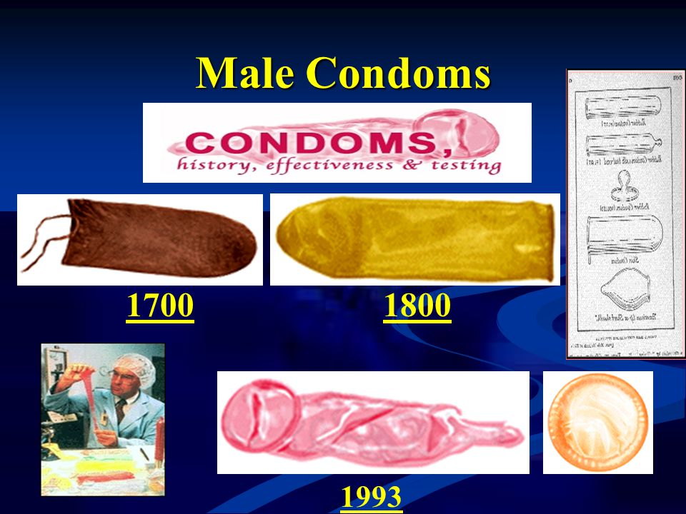 Male Condoms 1700 1800 1993