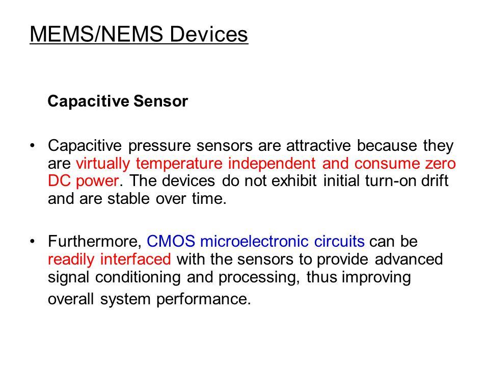 MEMS/NEMS Devices Capacitive Sensor
