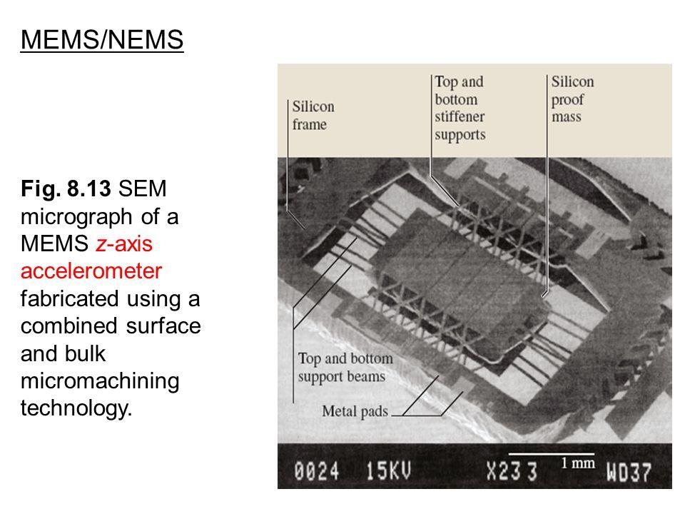 MEMS/NEMS Fig. 8.13 SEM micrograph of a MEMS z-axis accelerometer