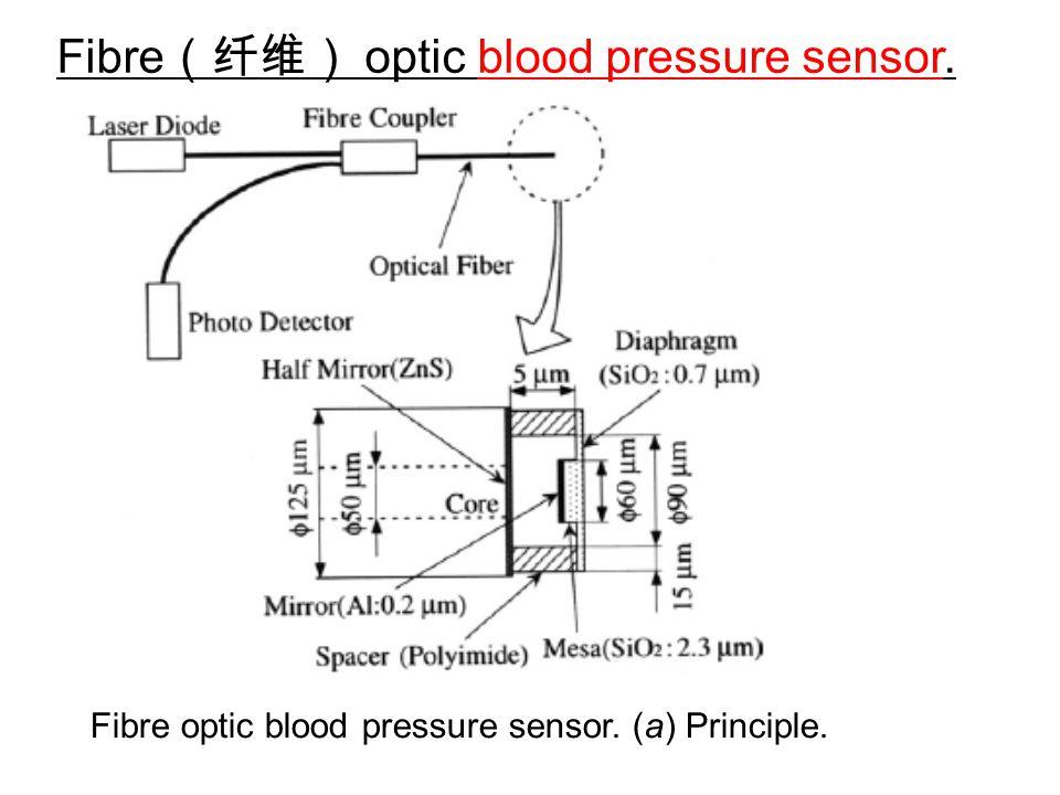 Fibre(纤维) optic blood pressure sensor.