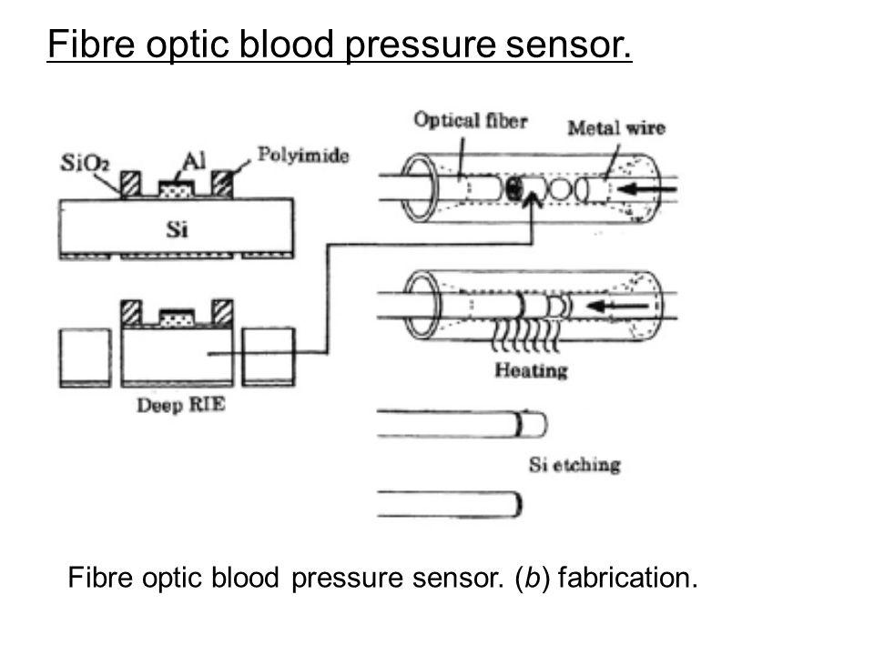 Fibre optic blood pressure sensor.