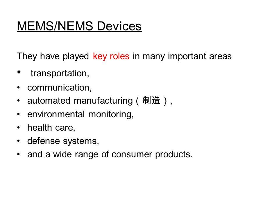 MEMS/NEMS Devices transportation,
