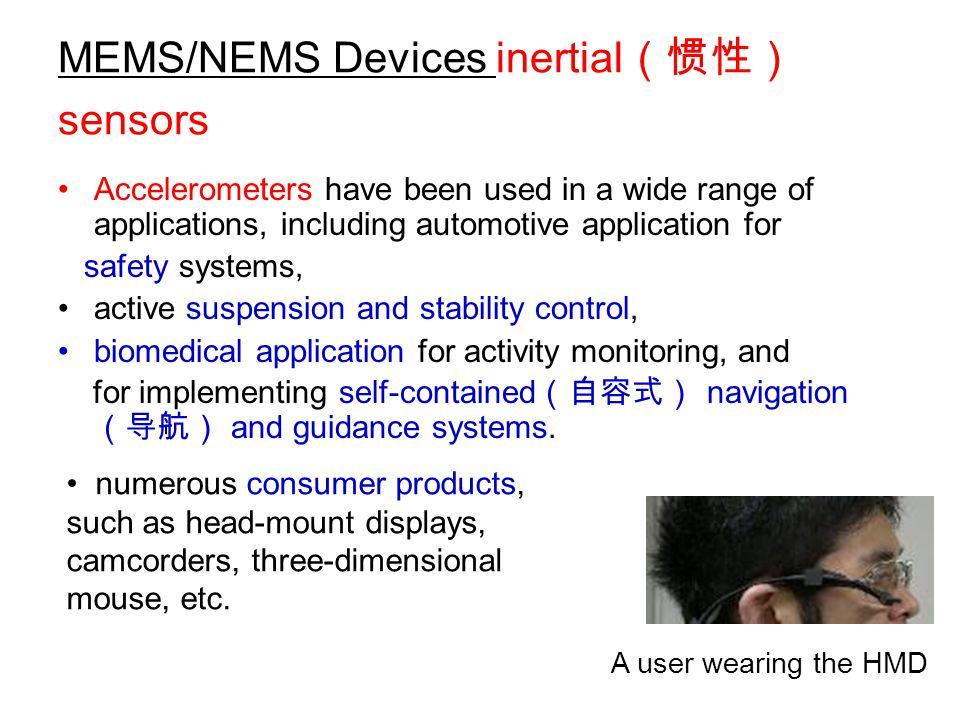 MEMS/NEMS Devices inertial(惯性) sensors