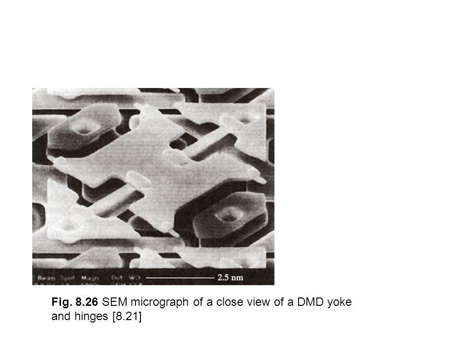 Fig. 8.26 SEM micrograph of a close view of a DMD yoke