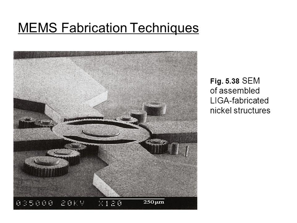 MEMS Fabrication Techniques