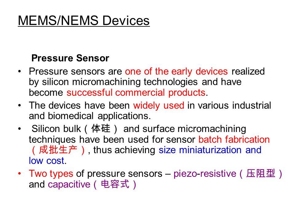 MEMS/NEMS Devices Pressure Sensor