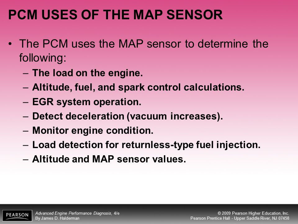 PCM USES OF THE MAP SENSOR