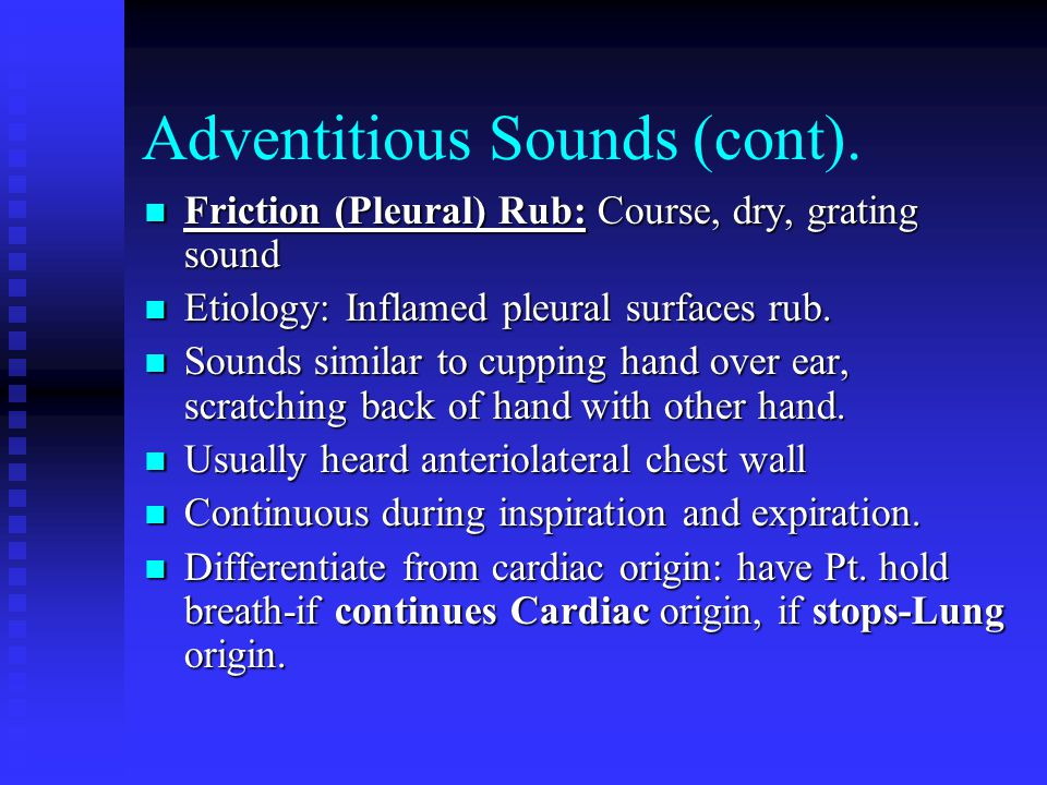 Adventitious Sounds (cont).