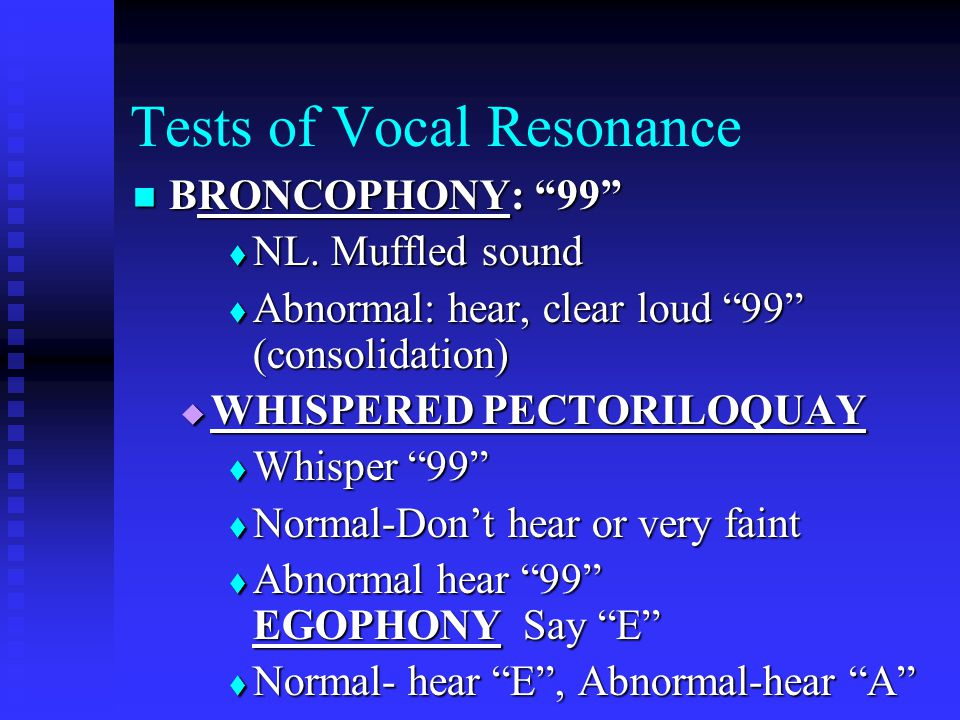 Tests of Vocal Resonance