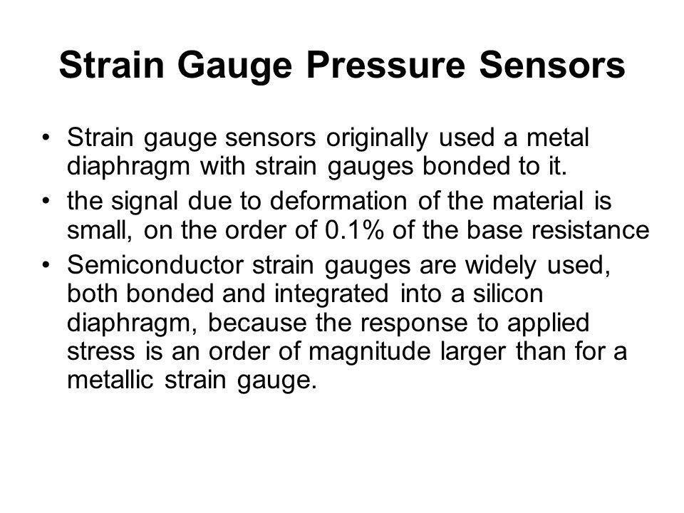 Strain Gauge Pressure Sensors