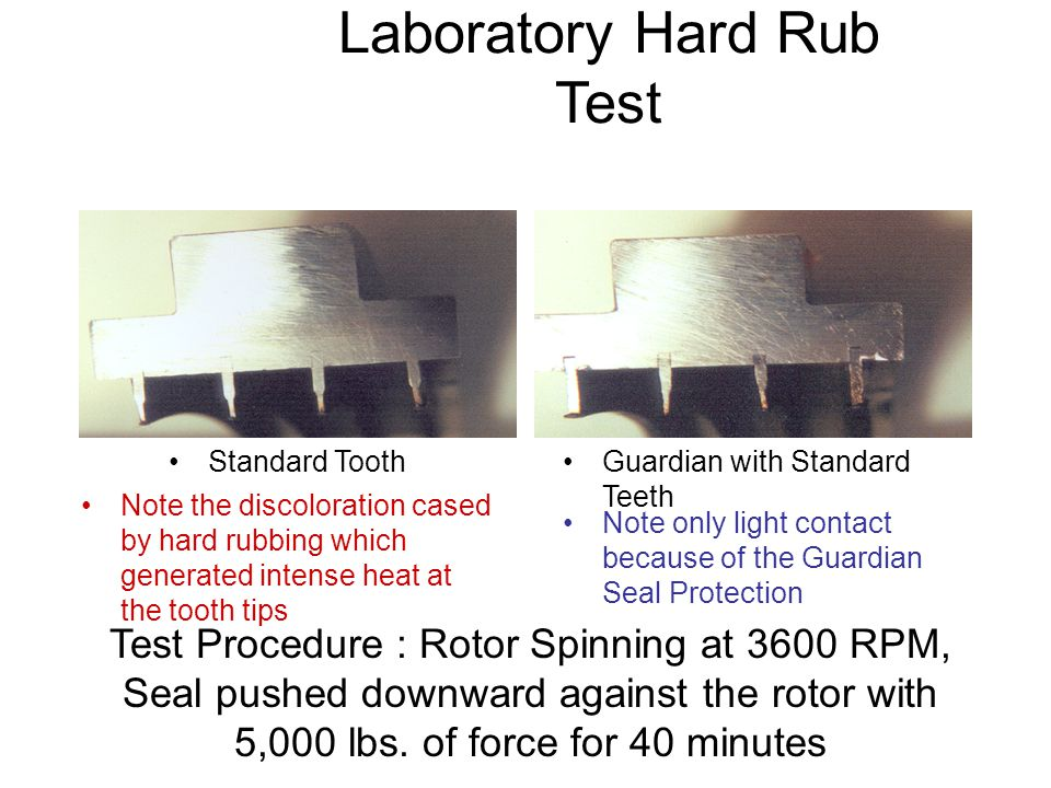 Laboratory Hard Rub Test